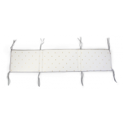 Mantinel do postýlky 35x170cm Jersey Gold Dots