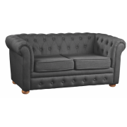 Pohovka Chesterfield Dark Grey