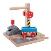 Bigjigs Rail Žeriav so štrkom